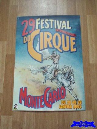Affiche magasin du Festival International du Cirque de Monte-Carlo-2005 (n°603)