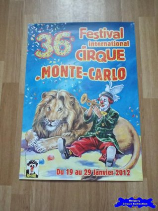 Affiche magasin du Festival International du Cirque de Monte-Carlo-2012 (n°604)