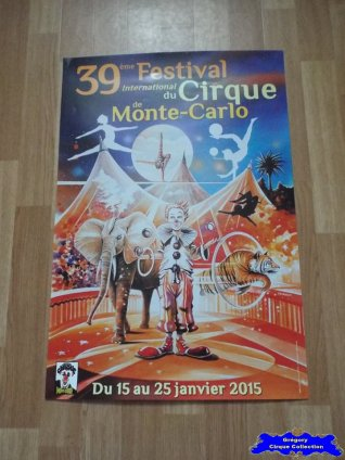 Affiche magasin du Festival International du Cirque de Monte-Carlo-2015 (n°605)