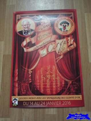 Affiche magasin du Festival International du Cirque de Monte-Carlo-2016 (n°606)