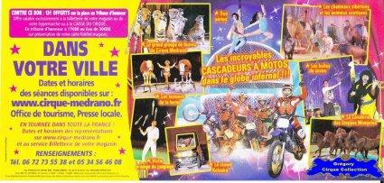 Flyer du Cirque Médrano-2015 (n°1296)
