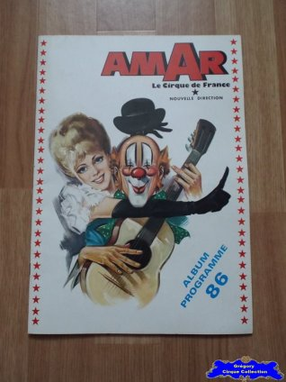 Programme du Cirque Amar-1986 (n°116)