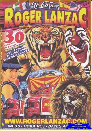 Flyer du Cirque Lanzac (Roger)-2015 (n°1302)