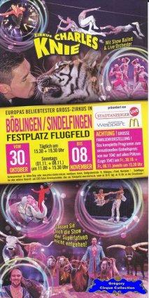 Flyer du Cirque Knie (Charles)-2015 (n°1325)