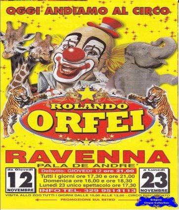 Flyer du Cirque Orfei (Rolando)-2015 (n°1316)