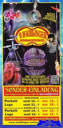 Flyer du Cirque de Noël (Waiblinger Weihnachtscircus)-2015/2016 (n°1337)