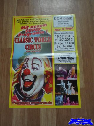 Affiche magasin du Classic World Circus-2013 (n°642)