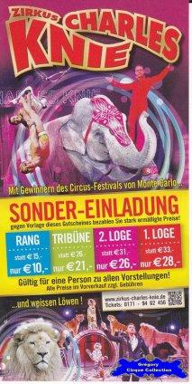 Flyer du Cirque Knie (Charles)-2015 (n°1328)