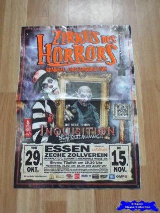 Affiche magasin du Zirkus des Horrors-2015 (n°640)