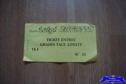 Ticket du Cirque Zavatta (Luigi)