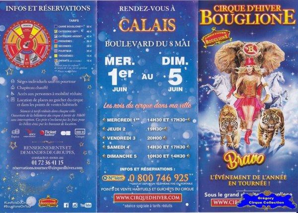 Flyer du Cirque Bouglione (Cirque d'Hiver On Tour)-2016 (n°1399)