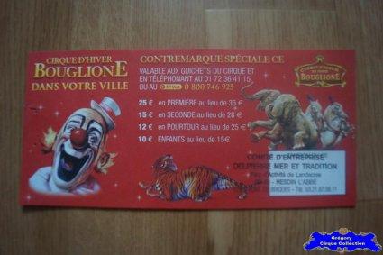 Bon de réduction du Cirque Bouglione (Cirque d'Hiver On Tour)-2015