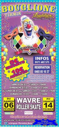 Flyer du Cirque Bouglione (Firmin)-2016 (n°1382)