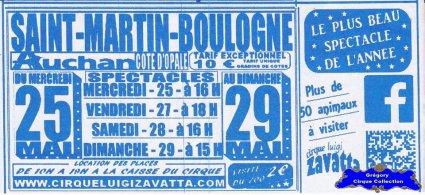 Flyer du Cirque Zavatta (Luigi)-2016 (n°1394)
