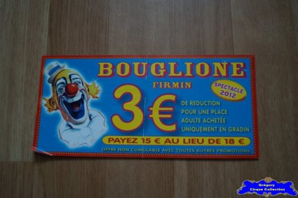 Bon de réduction du Cirque Bouglione (Firmin)