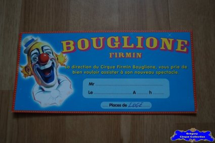 Invitation du Cirque Bouglione (Firmin)