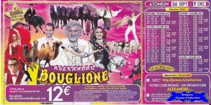 Flyer du Cirque Bouglione (Alexandre)-2012 (n°1365)