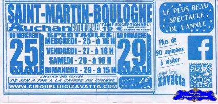 Flyer du Cirque Zavatta (Luigi)-2016 (n°1395)