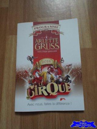 Programme du Cirque Gruss (Arlette)-2016 (n°119)