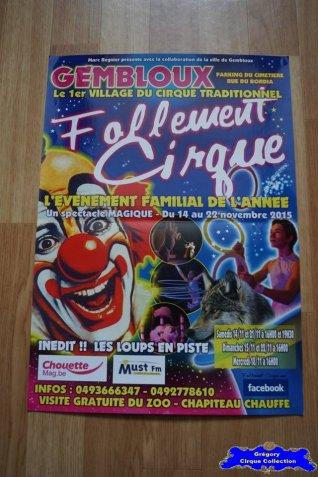 Affiche magasin du Festival du Cirque de Gembloux-2015 (n°668)