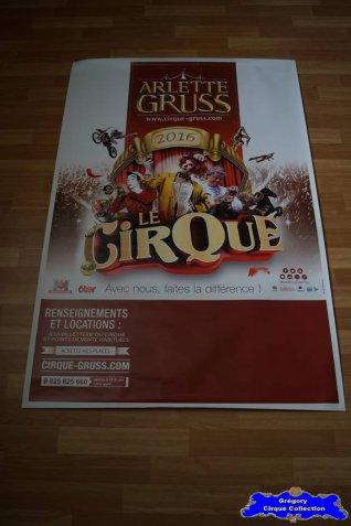 Affiche murale du Cirque Gruss (Arlette)-2016 (n°660)