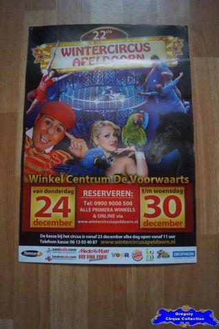 Affiche magasin du Cirque de Noël (Wintercircus Apeldoorn)-2015 (n°666)