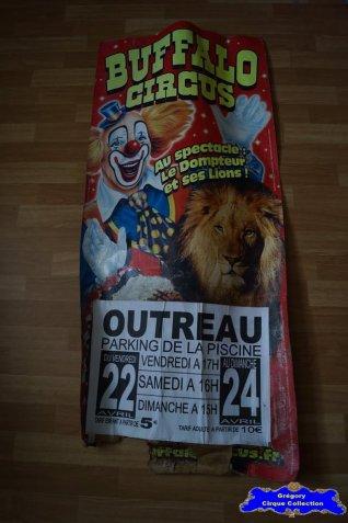 Affiche carton du Buffalo Circus-2016 (n°663)