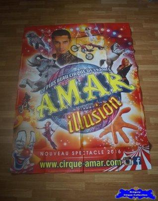 Affiche murale du Cirque Amar-2016 (n°685)