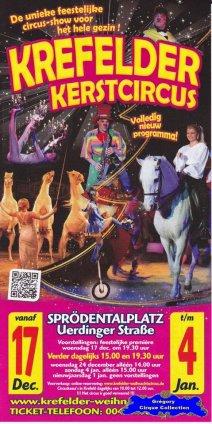 Flyer du Cirque de Noël (Krefelder Kerstcircus)-2014/2015 (n°1374)