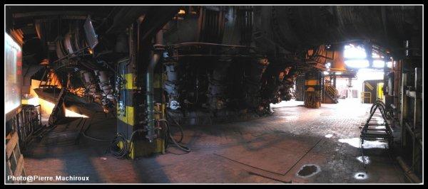 Panoramique plancher tuyères Haut-fourneau 6