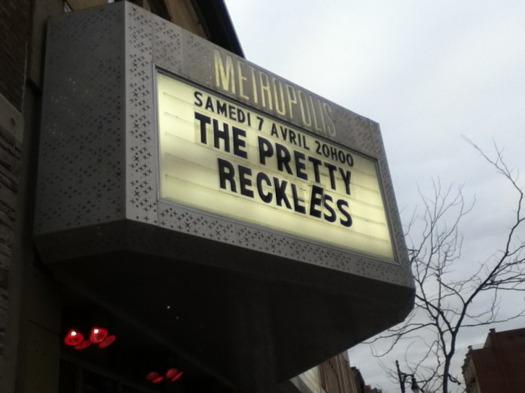 THE PRETTY RECKLESS - 7 AVRIL 2012
