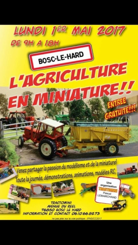 Exposition de miniatures à Bosc le Hard