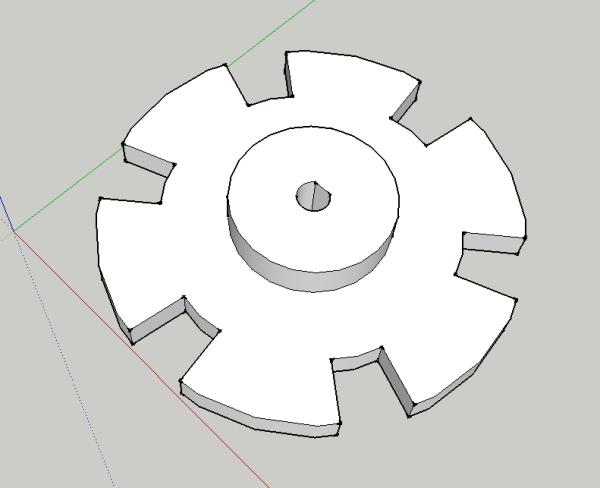 Réalisation des supports de roue à l'imprimante 3D