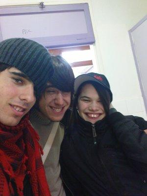 Val, sa petite amie et moi