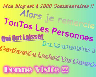 1000 commentaires
