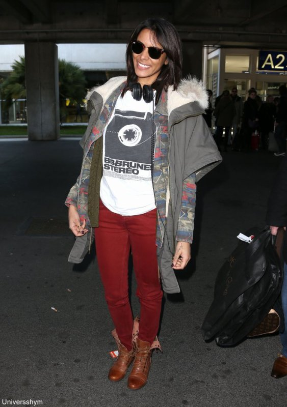 [ Nrj Music Awards 2013 • Arrivée de Shy'm à l'aéroport de Nice • Photos HQ ]