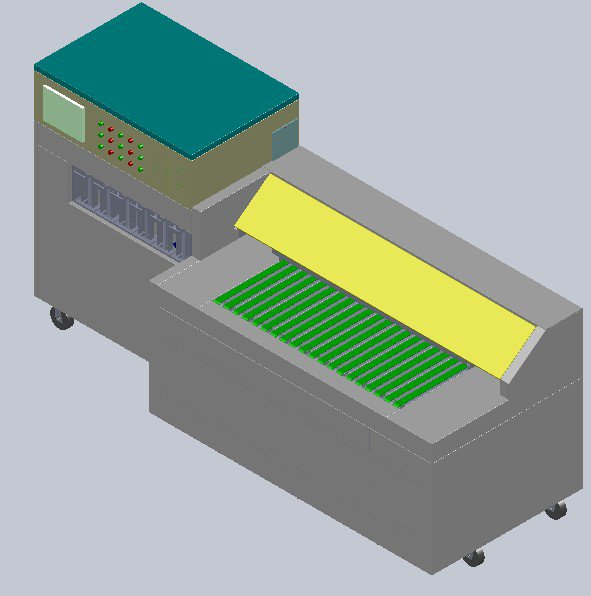 Automatic sorting machine for battery plates