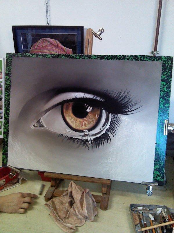 oeil pastel