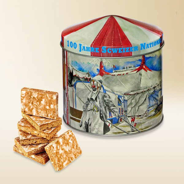 100ans circus KNIE boite biscuits 2019