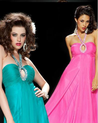 Green or pink evening dress?