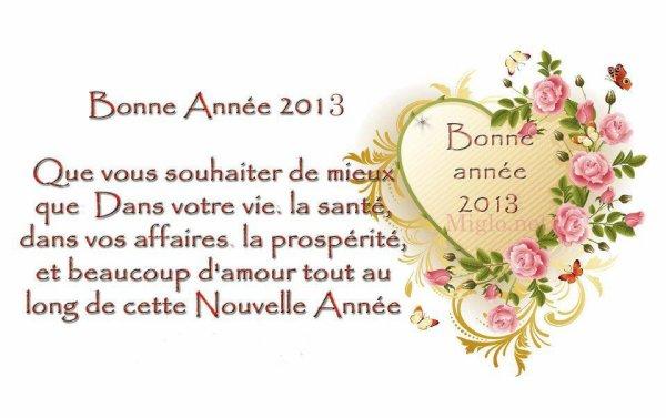 bonne annee a tous mes ami(e) du blog bisous