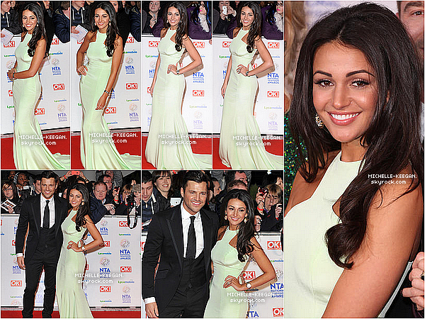 22/01/14 : Michelle a posé sur le tapis rouge des National Television Awards et s'est rendue à l'after party.