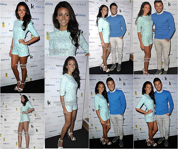 """18/03/14 : Michelle et Mark étaient ensemble lors de la soirée """"Reuben Wood Hair & Beauty Salon"""" ."""