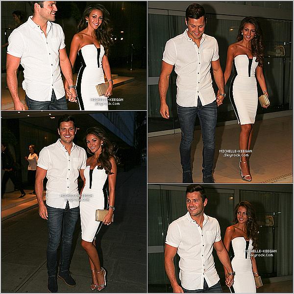 04/08/14 : Michelle avec son fiancé sortant du restaurant Nobu de Londres, après un dîner en tête-à-tête.