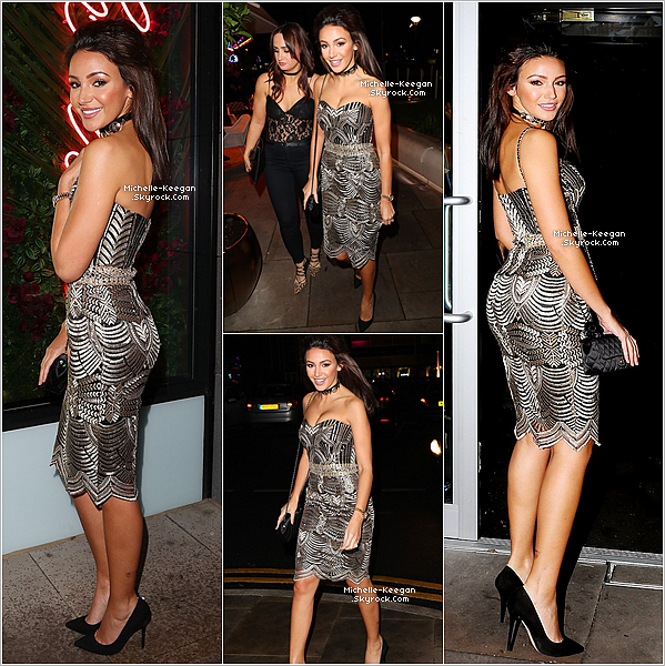 """02/12/16 : Michelle, en princesse, se rendant au """"Menagerie Bar & Restaurant"""" à Manchester avec une amie."""