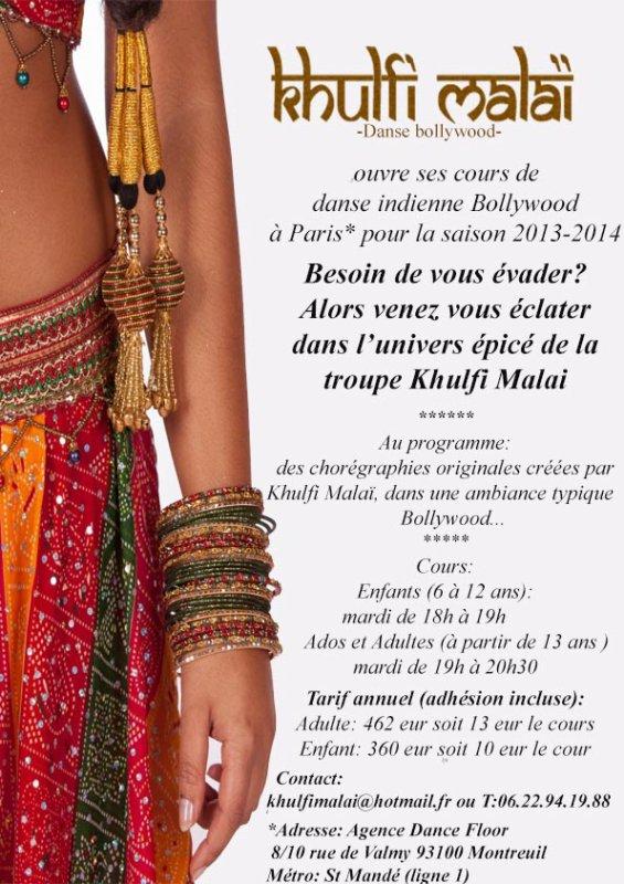 ouverture des cours de danse à PARIS*