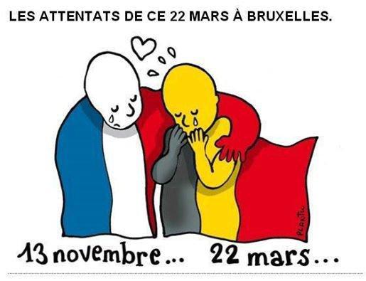 Pour les attendats de Bruxelles