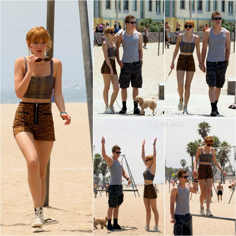 Bella is back from South Africa ! Bella, son petit-ami Tristan et son chien Kingston étaient de sortie à la plage de Santa Monica le 30 juin dernier. J'adore sa tenue !