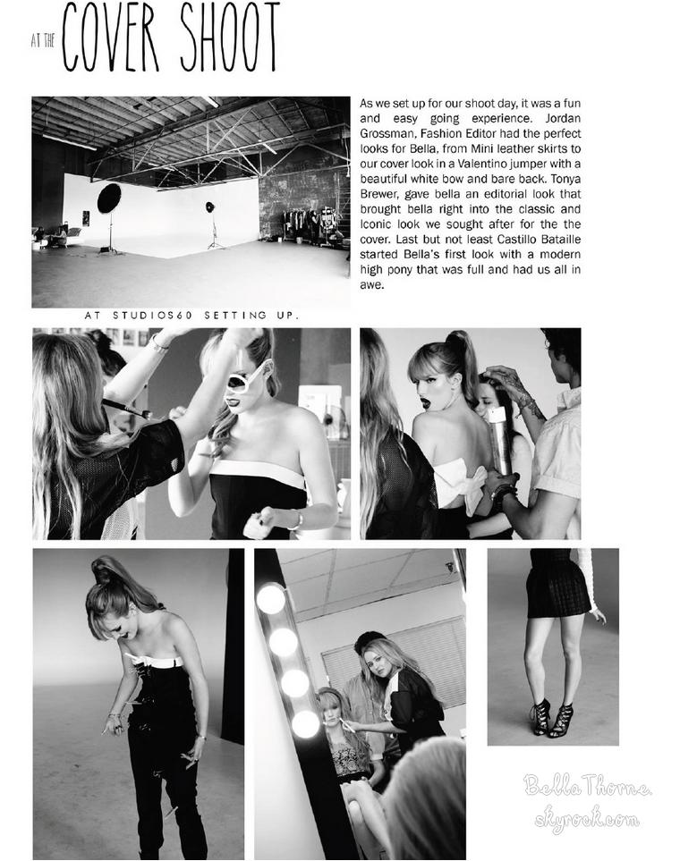 """Découvrez en exclu' les scans du magazine """"Unleash'd"""" (Août 2013), dont Bella fait la couverture."""