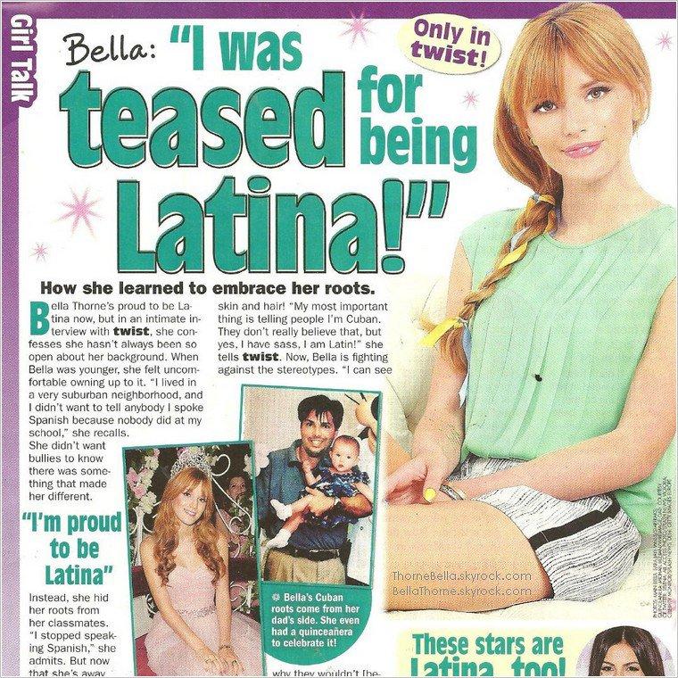 Exclu : Bella Thorne s'exprime sur ses origines latines, dans le magazine « Twist » !